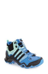 Adidas Women's 'Terrex Swift R Mid Gtx' Gore Tex Hiking Boot Ray Blue Black Ice Green