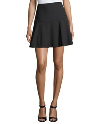 Red Valentino Cady Fit And Flare Miniskirt Black