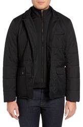 Ted Baker Men's London Jasper Trim Fit Quilted Jacket With Removable Bib