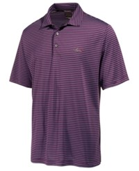 Greg Norman For Tasso Elba Men's 5 Iron Striped Performance Polo Only At Macy's Plum