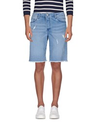 Solid Denim Denim Bermudas