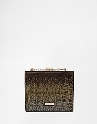 Aldo Structured Clutch With Embellishment Blackgold