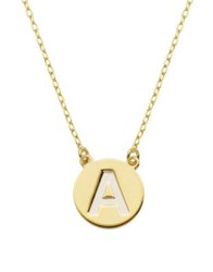 Lord And Taylor Gold Plated Sterling Silver Pendant Necklace