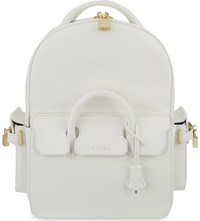 Buscemi Handle Grained Leather Backpack White
