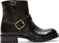 Marc By Marc Jacobs Black Leather Flat Core Biker Boot
