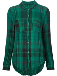 Raquel Allegra Checked Shirt Green