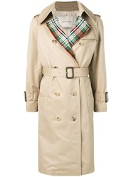 Mackintosh Honey Colour Block Trench Coat Lm 062Bs Cb Brown