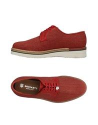 Brimarts Lace Up Shoes Red