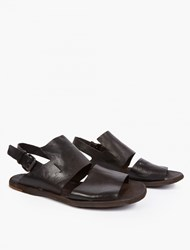 Officine Creative Brown Leather Sandals