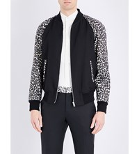 Alexander Mcqueen Leopard Print Bomber Jacket Ivory Stone