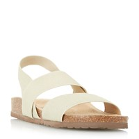Linea Luniper Elastic Footbed Sandals Gold