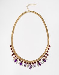 Paper Dolls Jewel Faceted Necklace Gold