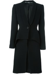 Alexander Mcqueen Tailored Peplum Coat Black