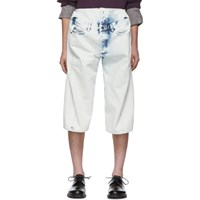 Y Project White Denim Pop Up Shorts