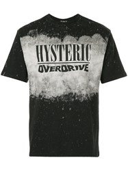 Hysteric Glamour Overdrive Print T Shirt Black