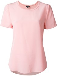 Armani Jeans Scoop Neck T Shirt Pink And Purple