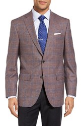 David Donahue Men's Connor Classic Fit Plaid Wool Sport Coat