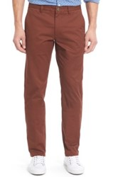 Bonobos Slim Fit Washed Stretch Cotton Chinos Brown