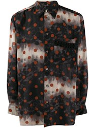 Jean Paul Gaultier Vintage Polka Dot Shirt Black