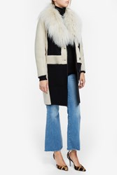 Paul And Joe Leather Sheepskin Coat Beige