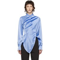 Y Project Blue Twisted Shirt