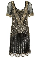 Frock And Frill Audrey Cocktail Dress Party Dress Black Gold