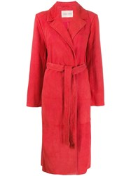 Stine Goya Trench Coat Red