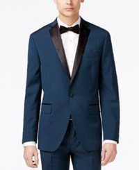 Bar Iii Asteroid Men's Teal Slim Fit Tuxedo Jacket Only At Macy's