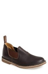 Men's Blundstone Suede Slip On Stout Brown