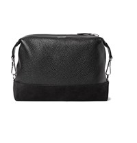 Tom Ford Suede Panelled Full Grain Leather Wash Bag Black