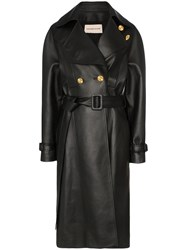 Alexandre Vauthier Double Breasted Trench Coat Black