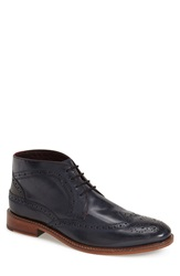 Ted Baker 'Pericop' Wingtip Chukka Boot Men Dark Blue Leather