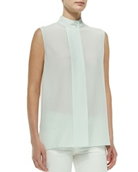 The Row Front Pleat Sleeveless Blouse