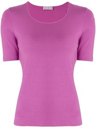 Le Tricot Perugia Basic T Shirt Pink And Purple