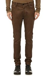 Ann Demeulemeester Leather Skinny Jeans Brown