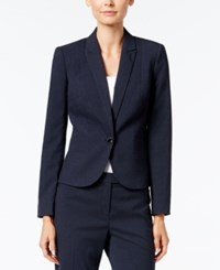 Calvin Klein Petite Single Button Blazer Navy