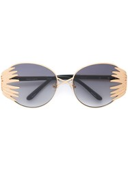 Prabal Gurung Cat Eye Frame Sunglasses Metallic