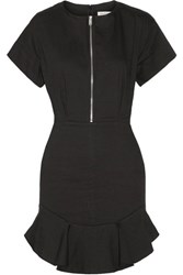 Etoile Isabel Marant Neit Ruffled Stretch Twill Mini Dress Black