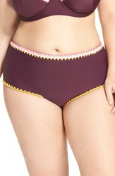Jessica Simpson Plus Size Women's High Waist Bikini Bottoms