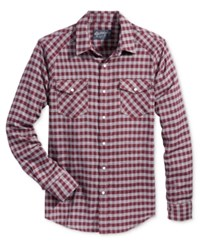 American Rag Men's Plaid Shirt Only At Macy's Dark Scarlet