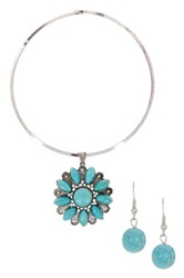 Eye Candy Los Angeles Stone Flower Necklace