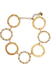 Rosantica Mamba Gold Tone Bamboo Necklace One Size