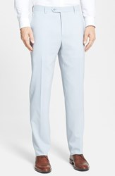Santorelli Men's Big And Tall Flat Front Travel Trousers Stone