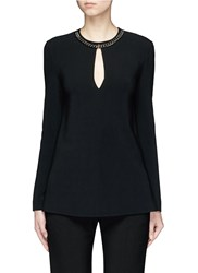 Stella Mccartney Curb Chain Keyhole Front Cady Top Black