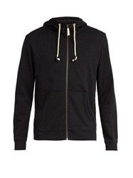 The Upside Staple Zip Up Hooded Sweatshirt Black