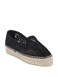 Manebi Paris Macrame Lace Espadrilles Black