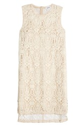 Dkny Lace Dress Beige