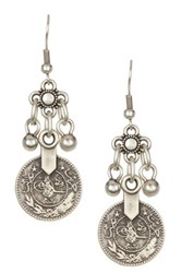 Bohemian Small Coin Earrings Metallic