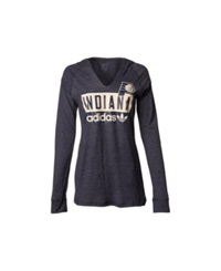 Adidas Women's Long Sleeve Indiana Pacers Straight Talk Hooded T Shirt Blue