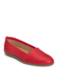 Aerosoles Trend Setter Leather Flats Red